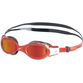 speedo Futura Biofuse Flexiseal Mirror Goggles Kids black/lava red/orange gold